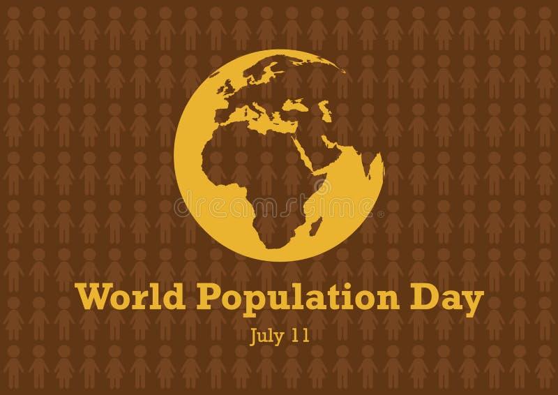 Вектор дня мирового населения иллюстрация штока