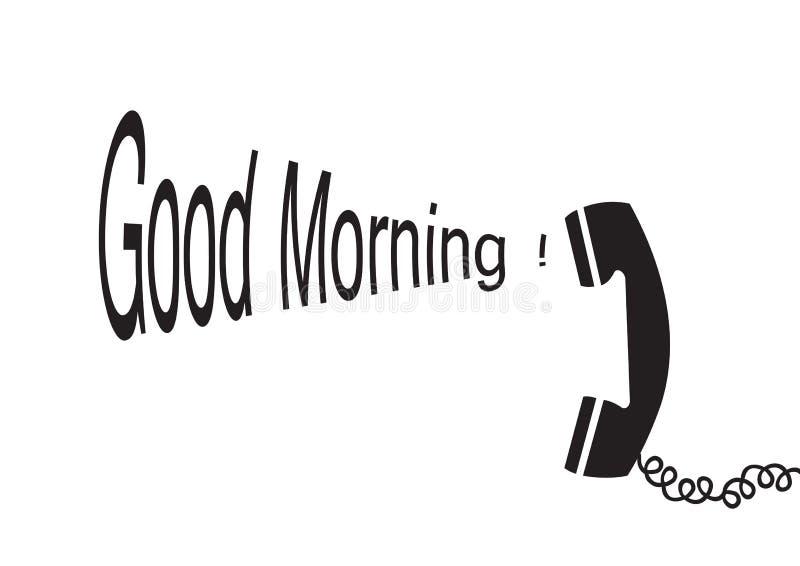 вектор доброго утра иллюстрация штока