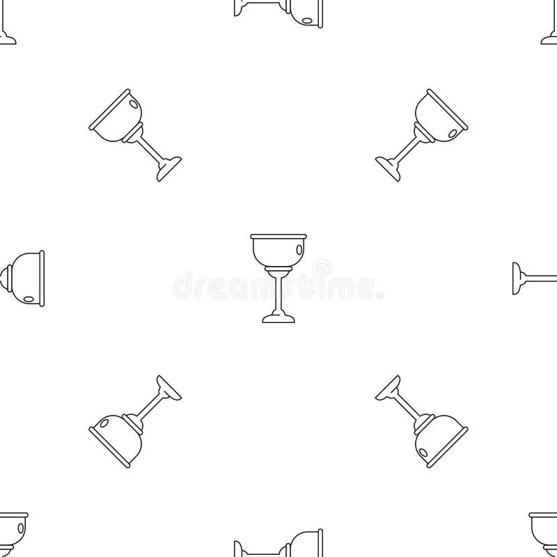 Вектор еврейской картины чашки безшовный бесплатная иллюстрация