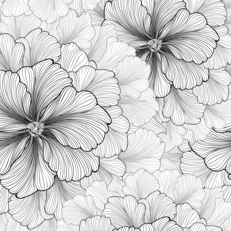 вектор детального чертежа предпосылки флористический диаграмма малое смычков букетов картины цветка безшовное Текстура эффектной  иллюстрация штока