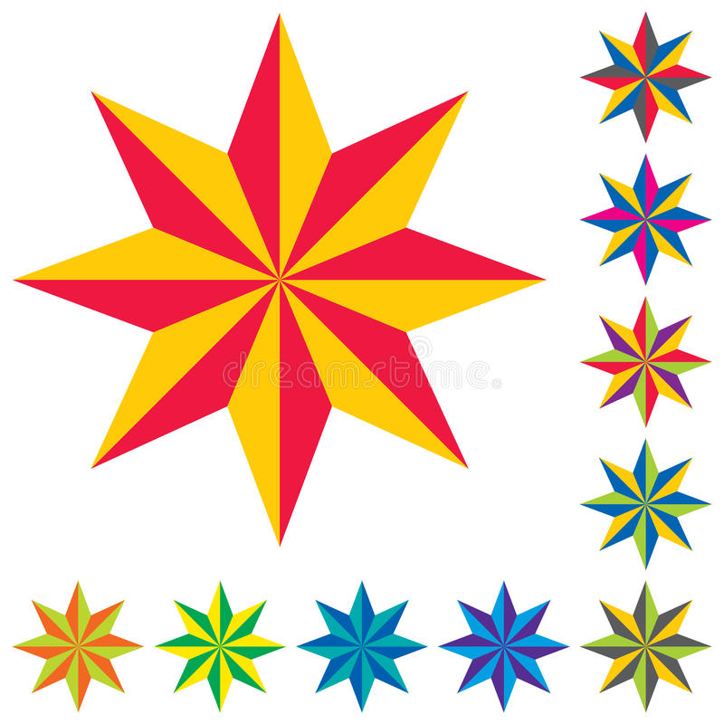 вектор звезды логосов стоковое фото
