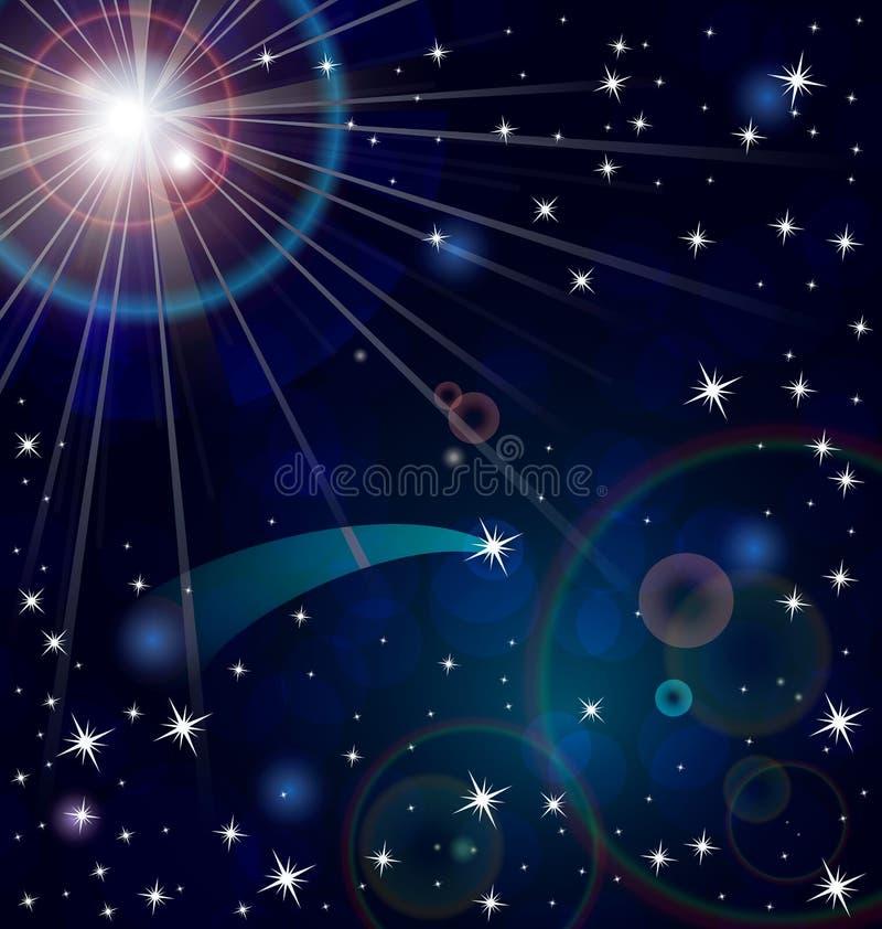 Вектор звезд светлый иллюстрация вектора