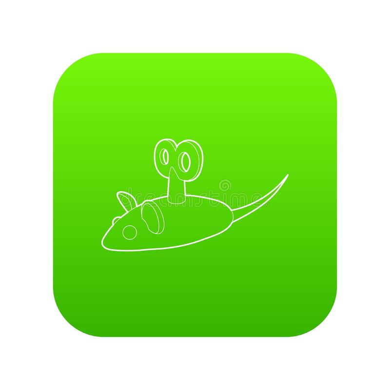 Вектор зеленого цвета значка мыши Clockwork бесплатная иллюстрация