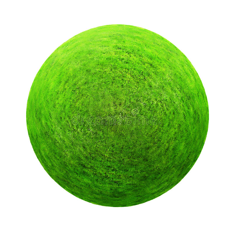 вектор зеленого цвета травы шарика иллюстрация штока