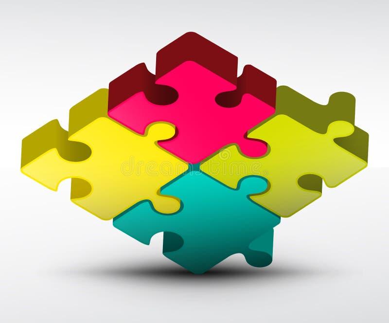 Вектор зигзага головоломки бесплатная иллюстрация