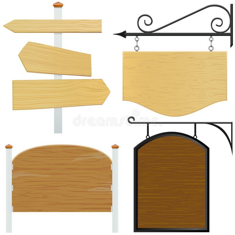 вектор знака деревянный иллюстрация вектора