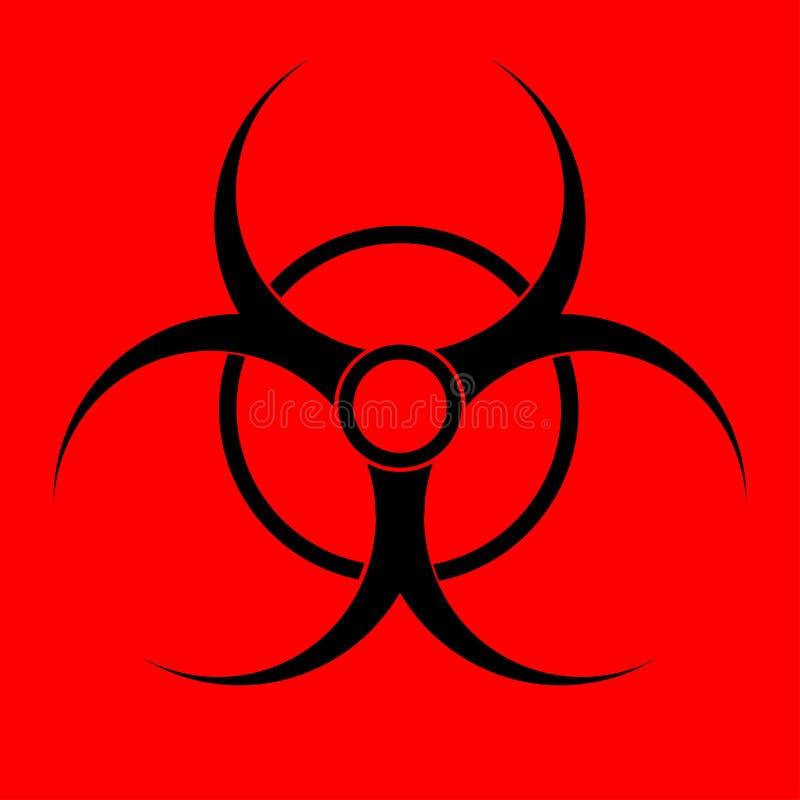 вектор знака иллюстрации biohazard eps10 Предупреждающая опасность радиации иллюстрация вектора