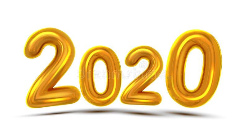 Вектор знамени концепции поздравительной открытки 2020 Новых Годов иллюстрация штока
