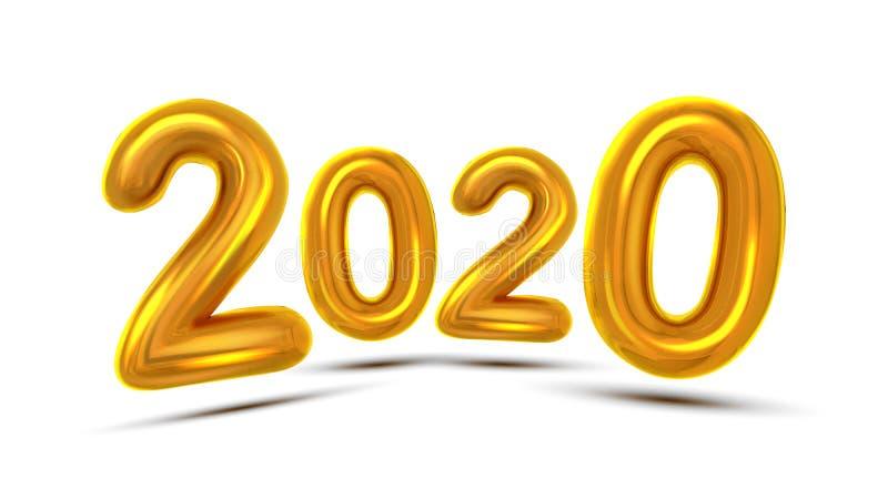 Вектор знамени концепции поздравительной открытки 2020 Новых Годов бесплатная иллюстрация