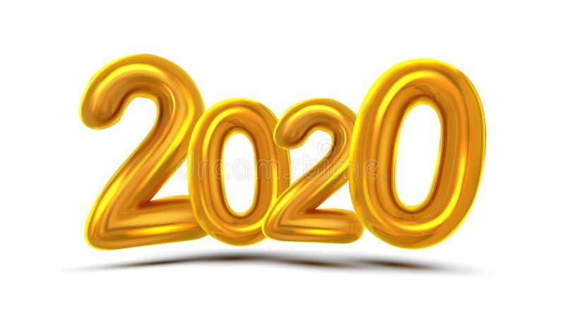 Вектор 2020 знамени концепции поздравительной открытки рождества иллюстрация вектора