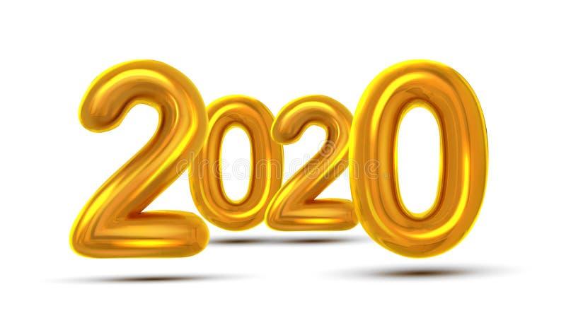 Вектор 2020 знамени концепции поздравительной открытки рождества иллюстрация штока