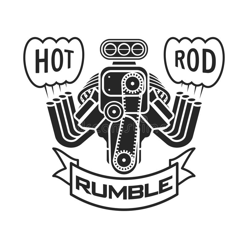 Вектор знамени плаката футболки логотипа speedster автомобиля мышцы горячей штанги двигателя бесплатная иллюстрация