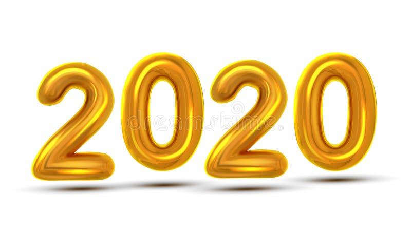 Вектор знамени торжества Нового Года 2020 номеров бесплатная иллюстрация