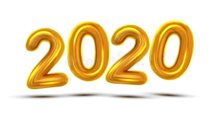 Вектор знамени торжества 2020 Новых Годов бесплатная иллюстрация