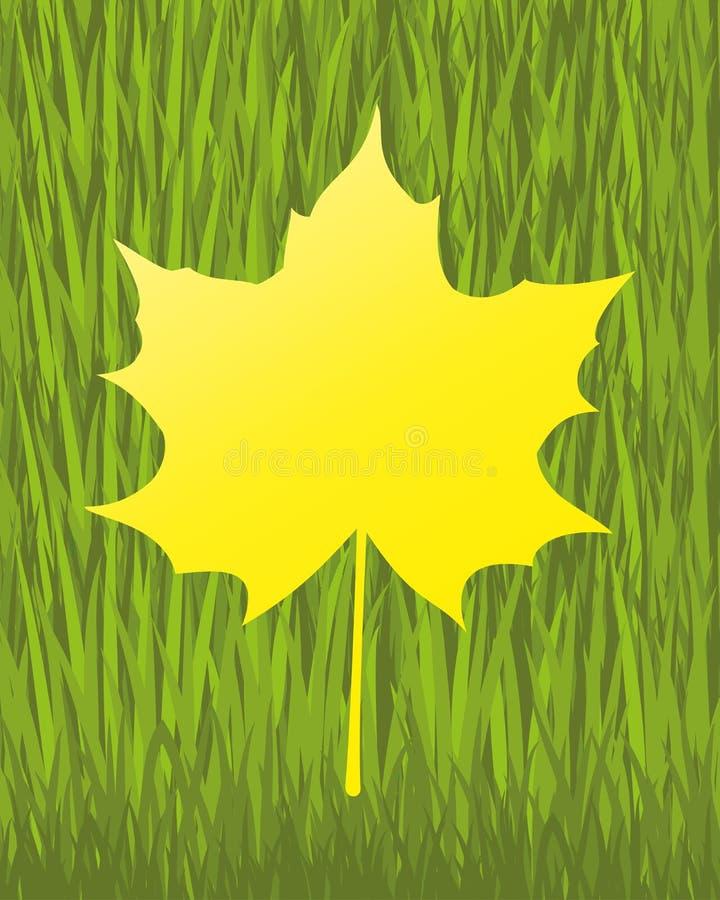 вектор знамени eps10 наслоенный архивом изолированный клен листьев иллюстрация штока