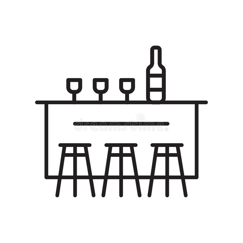 Вектор значка Адвокатуры изолированный на белой предпосылке, знаке Адвокатуры, тонкой линии элементах дизайна в стиле плана иллюстрация вектора