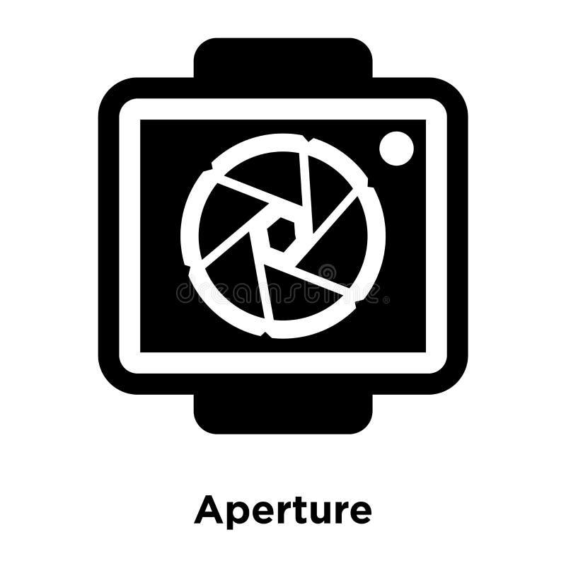 Вектор значка апертуры изолированный на белой предпосылке, концепции логотипа иллюстрация вектора