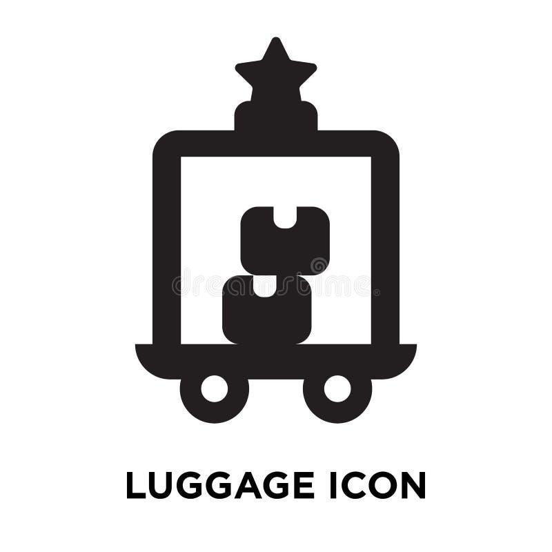 Вектор значка багажа изолированный на белой предпосылке, концепции o логотипа иллюстрация штока