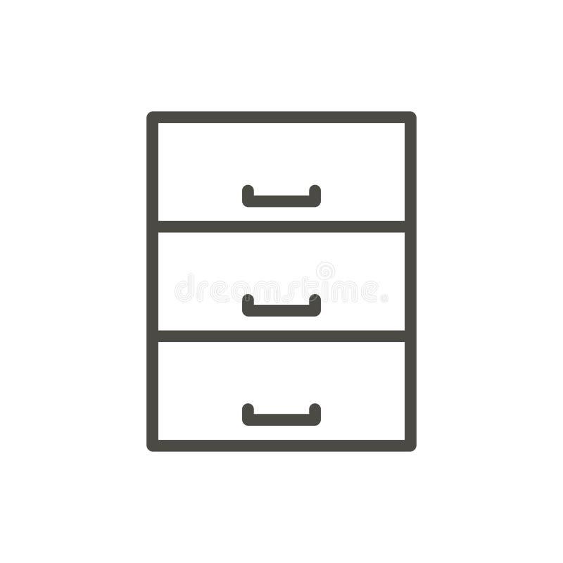 Вектор значка базы данных Архив плана Линия символ данных иллюстрация вектора