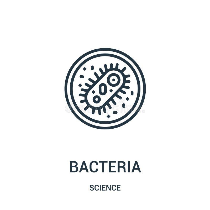 вектор значка бактерий от собрания науки Тонкая линия иллюстрация вектора значка плана бактерий Линейный символ для пользы на сет иллюстрация вектора