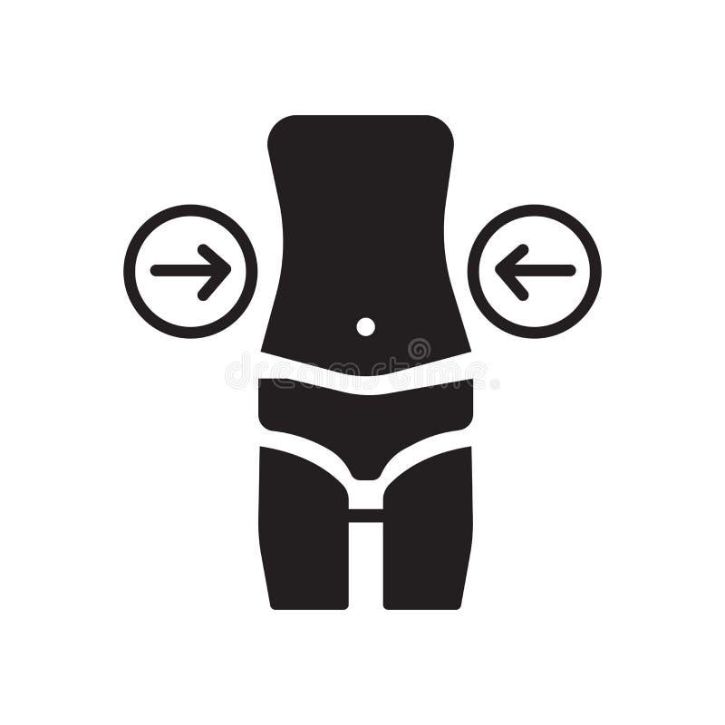Вектор значка бедер изолированный на белой предпосылке, бедрах подписывает, медицинские символы здоровья бесплатная иллюстрация