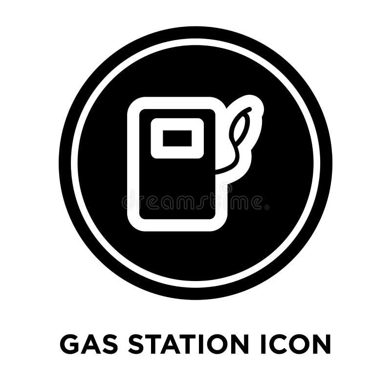 Вектор значка бензоколонки изолированный на белой предпосылке, conce логотипа иллюстрация штока