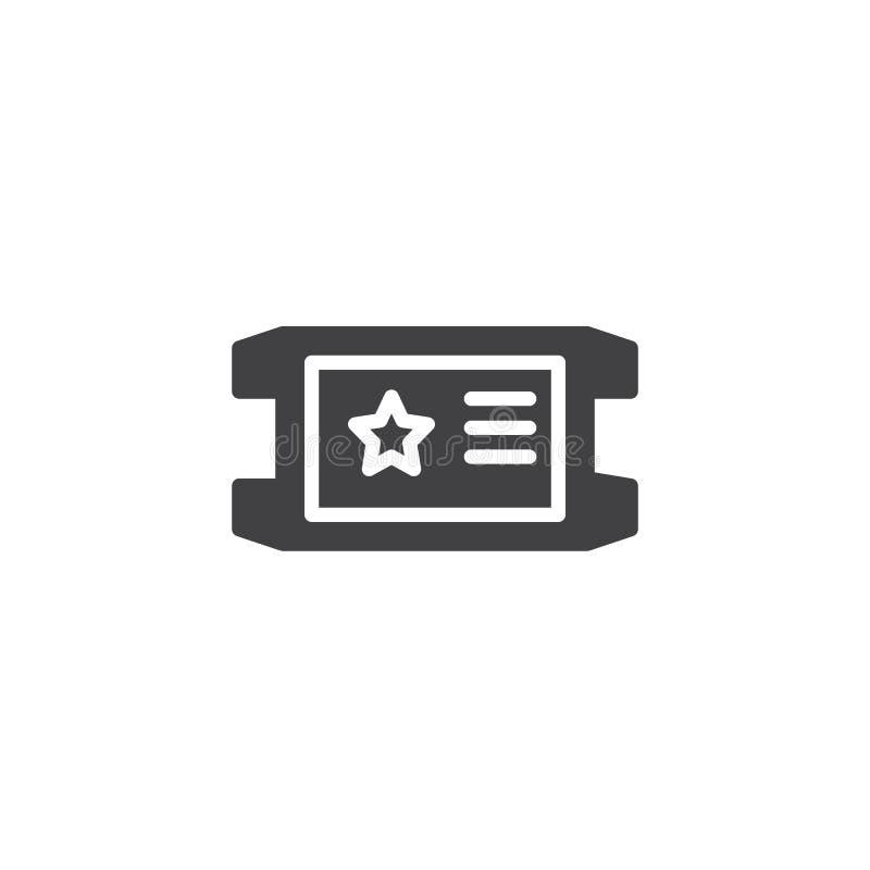 Вектор значка билета кино иллюстрация вектора
