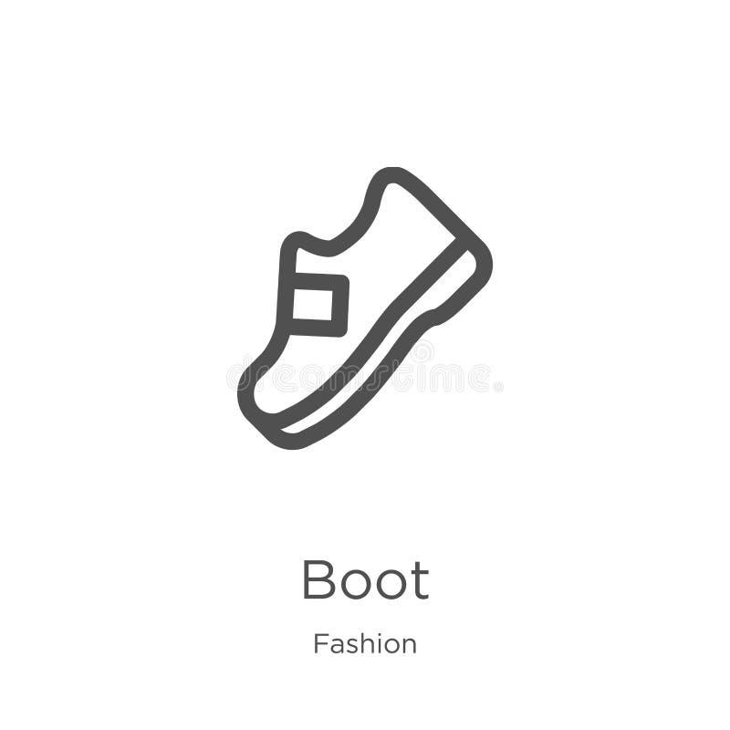 вектор значка ботинка от собрания моды Тонкая линия иллюстрация вектора значка плана ботинка План, тонкая линия значок ботинка дл бесплатная иллюстрация
