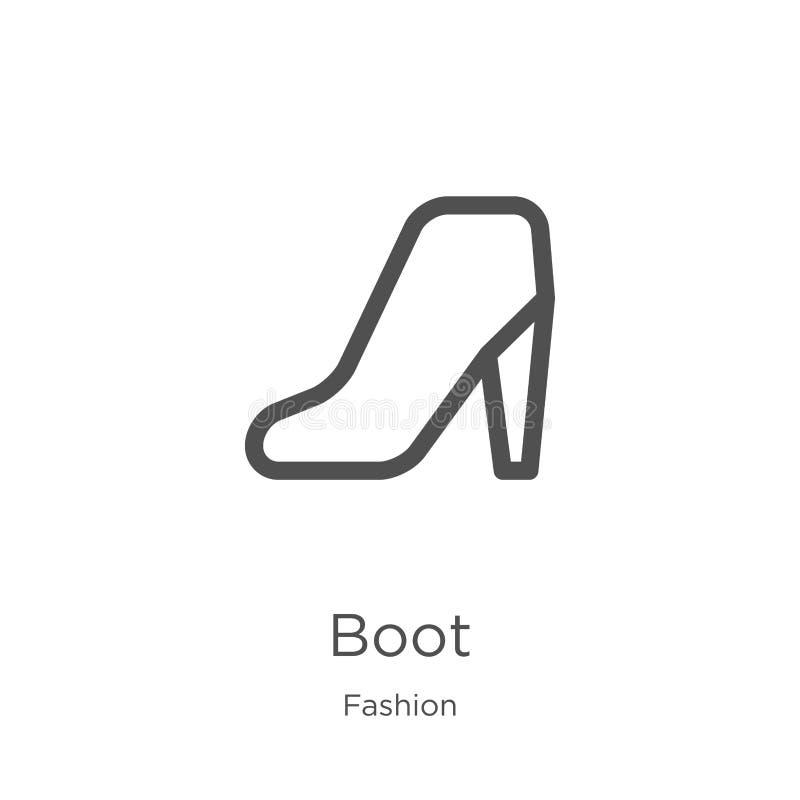 вектор значка ботинка от собрания моды Тонкая линия иллюстрация вектора значка плана ботинка План, тонкая линия значок ботинка дл иллюстрация штока