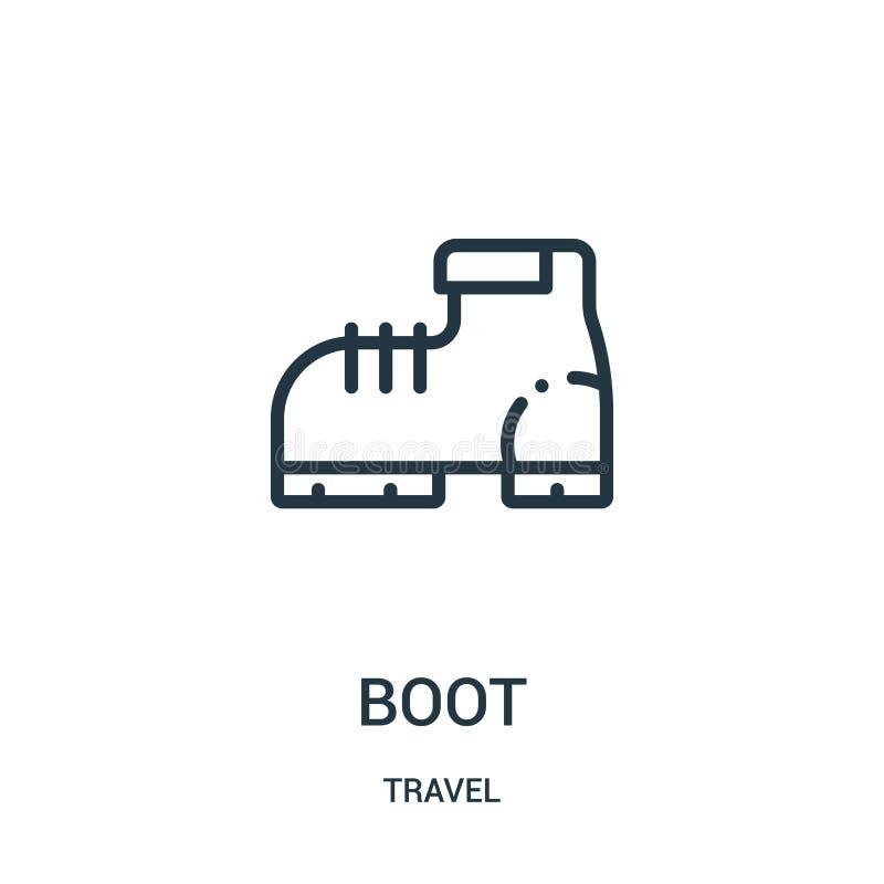 вектор значка ботинка от собрания перемещения Тонкая линия иллюстрация вектора значка плана ботинка Линейный символ для пользы на иллюстрация вектора