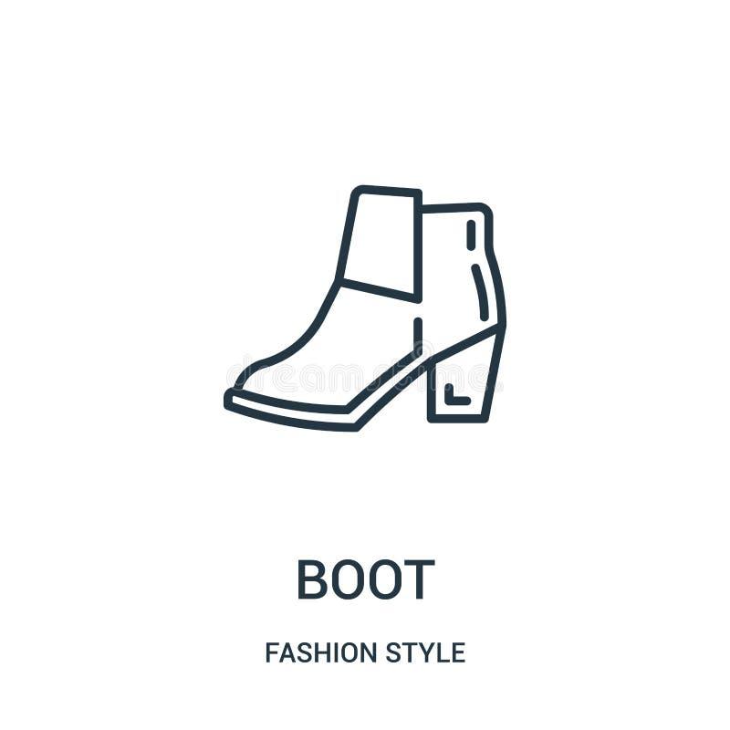 вектор значка ботинка от собрания стиля моды Тонкая линия иллюстрация вектора значка плана ботинка бесплатная иллюстрация
