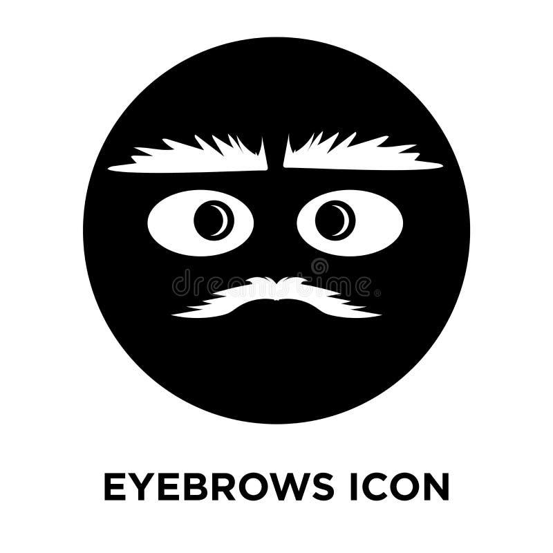 Вектор значка бровей изолированный на белой предпосылке, концепции логотипа бесплатная иллюстрация
