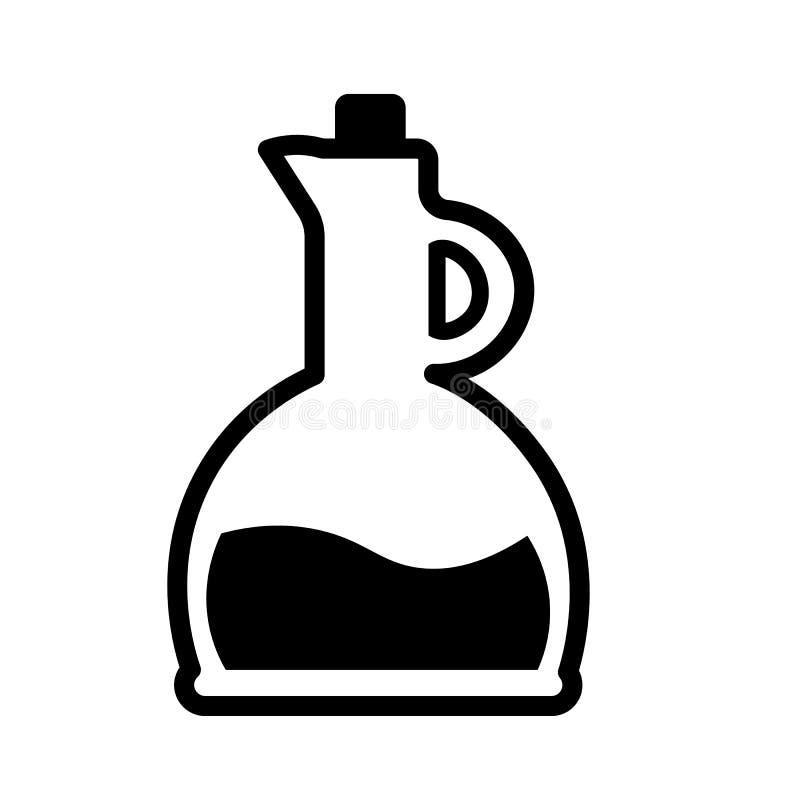 Вектор значка бутылки масла иллюстрация штока