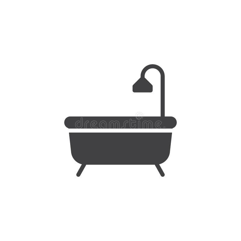 Вектор значка ванны иллюстрация вектора