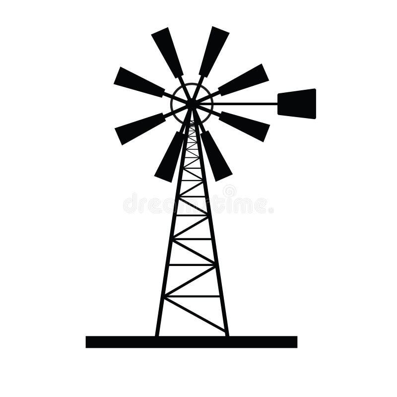 Вектор значка ветрянки стоковое изображение rf