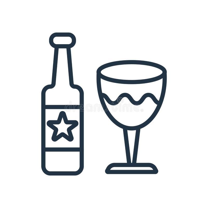 Вектор значка вина изолированный на белой предпосылке, знаке вина бесплатная иллюстрация