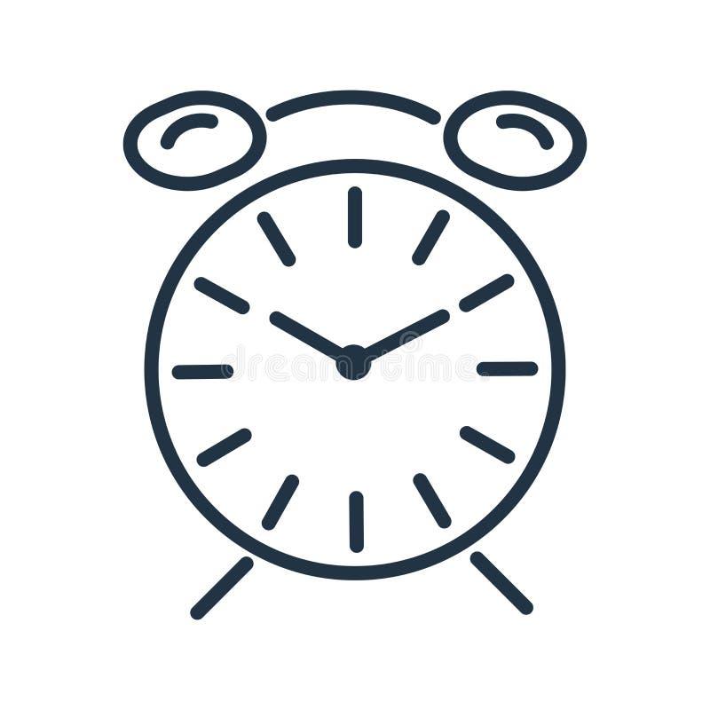 Вектор значка времени изолированный на белой предпосылке, знаке времени бесплатная иллюстрация