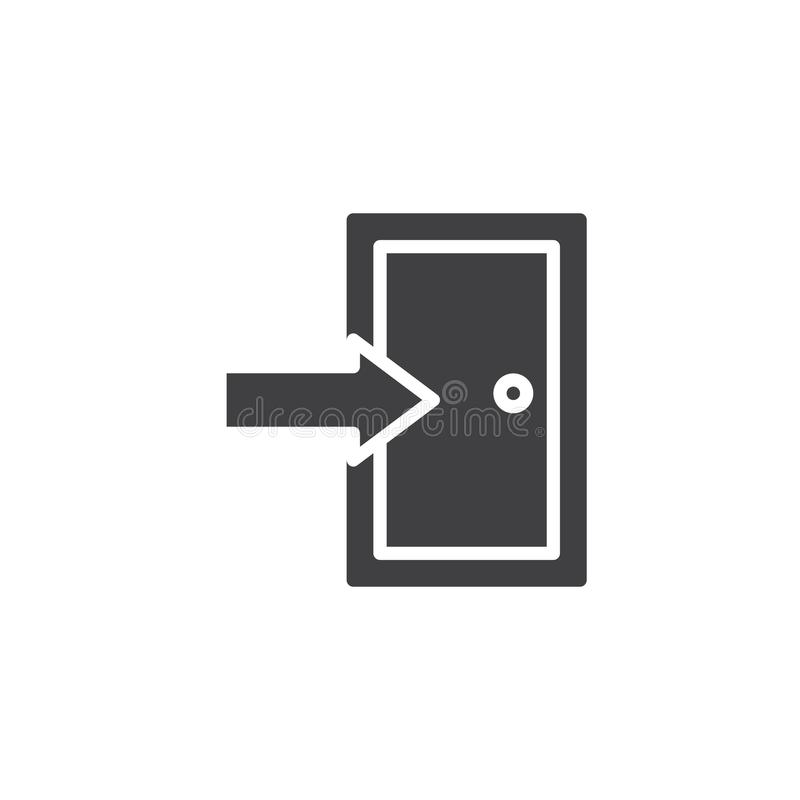 Вектор значка входной двери бесплатная иллюстрация