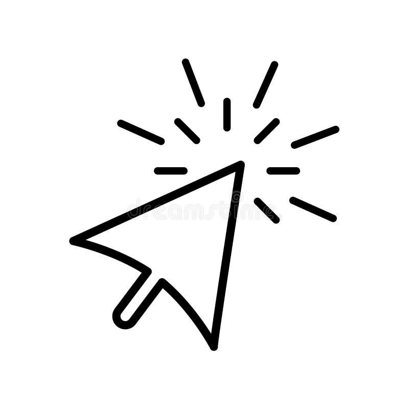 Вектор значка выбора изолированный на белой предпосылке, выборе si иллюстрация штока