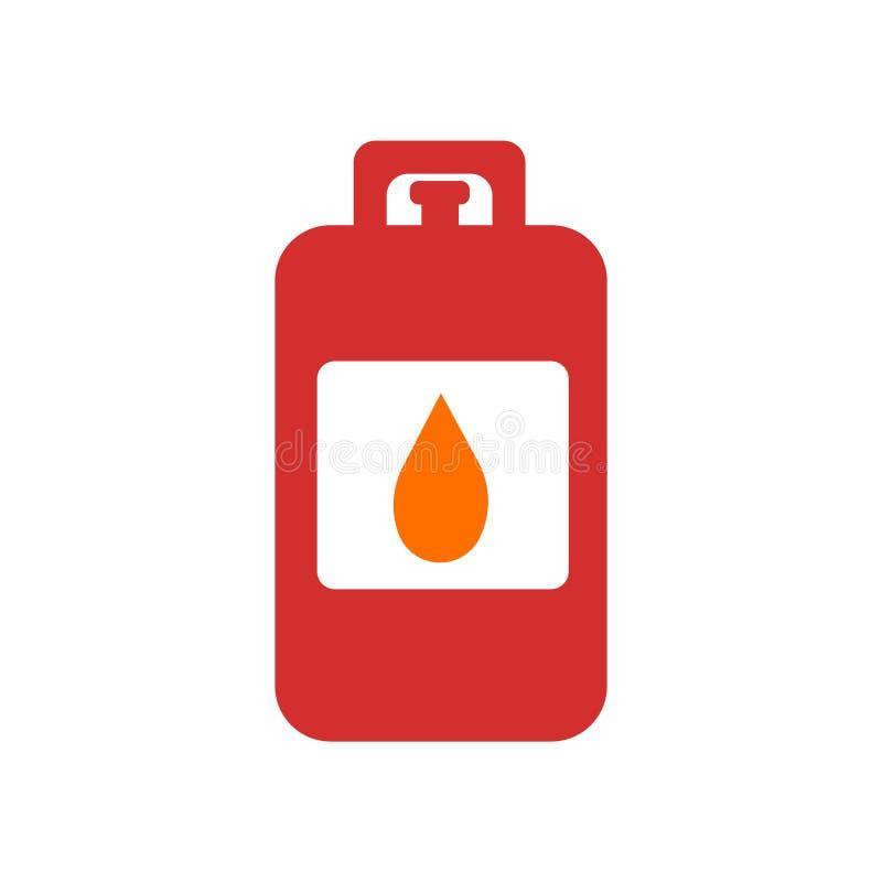 Вектор значка газа изолированный на белой предпосылке, знаке газа, символах бедствия иллюстрация штока