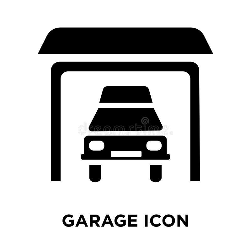 Вектор значка гаража изолированный на белой предпосылке, концепции логотипа  иллюстрация вектора