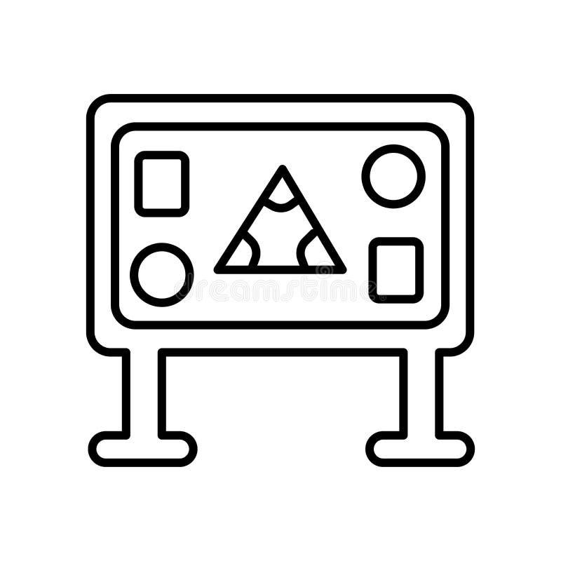 Вектор значка геометрии изолированный на белых предпосылке, знаке геометрии, знаке и символах в тонком линейном стиле плана иллюстрация штока