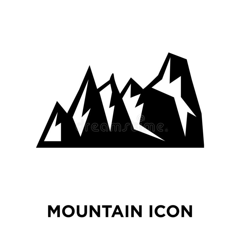Вектор значка горы изолированный на белой предпосылке, концепции логотипа бесплатная иллюстрация