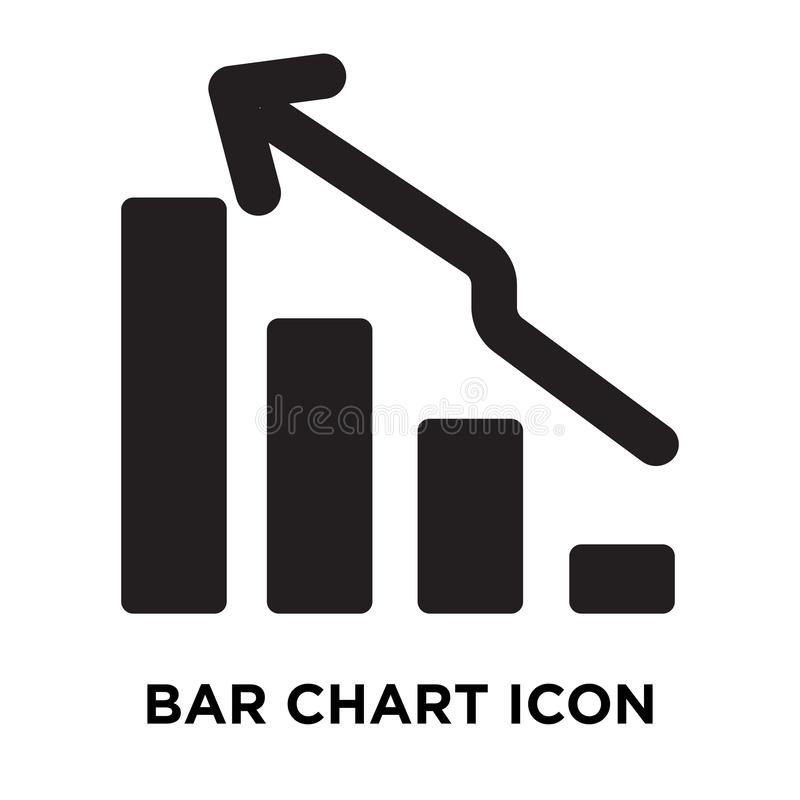 Вектор значка диаграммы в виде вертикальных полос изолированный на белой предпосылке, концепции логотипа иллюстрация штока