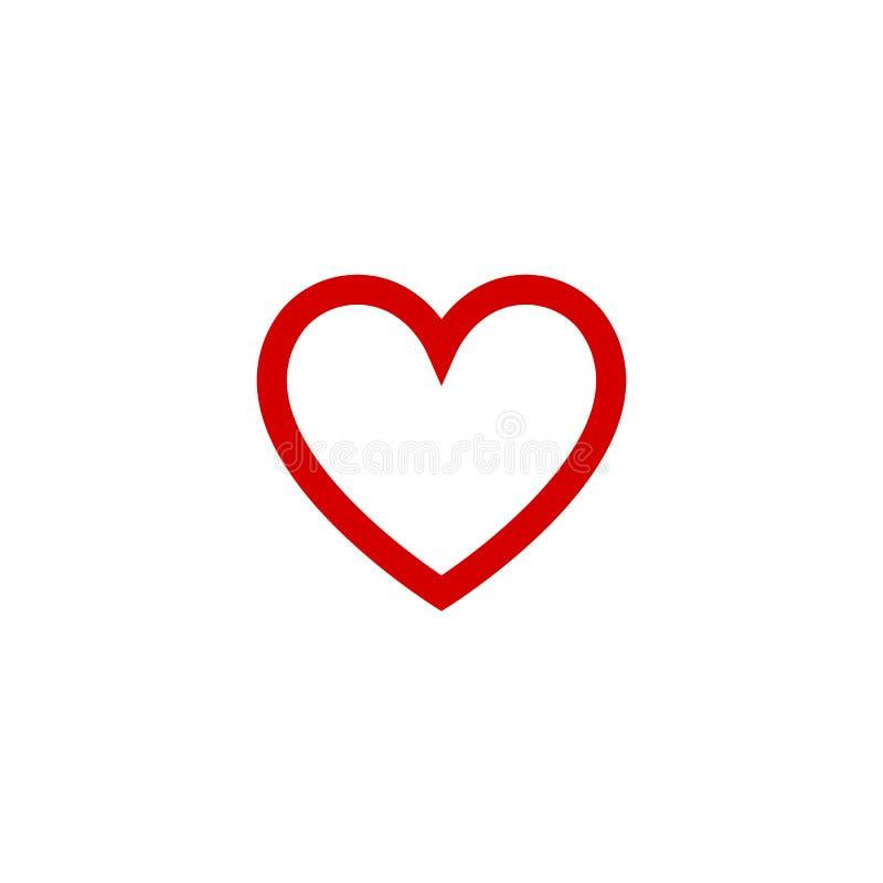 Вектор значка дизайна сердца плоский на день Валентайн o бесплатная иллюстрация