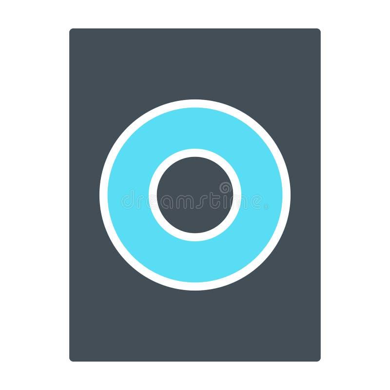 Вектор значка диктора, звук, тональнозвуковой знак музыки изолированный на белой предпосылке бесплатная иллюстрация