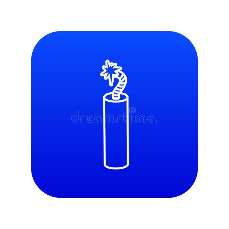 Вектор значка динамита шахты голубой бесплатная иллюстрация