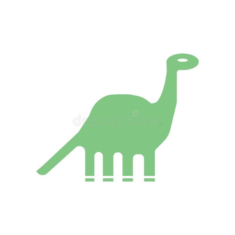 Вектор значка динозавра изолированный на белой предпосылке, знаке динозавра, исторических символах каменного века бесплатная иллюстрация