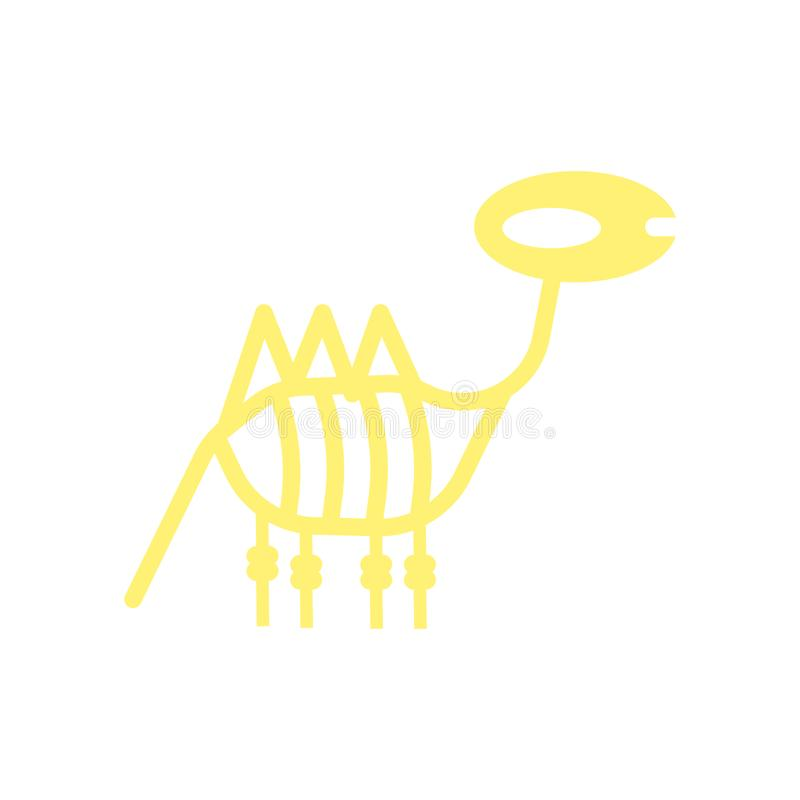 Вектор значка динозавра изолированный на белой предпосылке, знаке динозавра, исторических символах каменного века иллюстрация штока