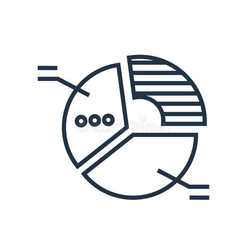 Вектор значка долевой диограммы изолированный на белой предпосылке, знаке долевой диограммы иллюстрация вектора